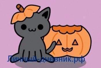 Осенние котики для личного дневника2