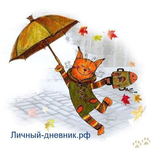 летящий котик для личного дневника