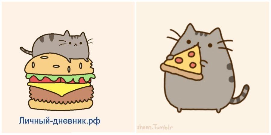 Картинки для срисовки . Няшные и прикольные котики