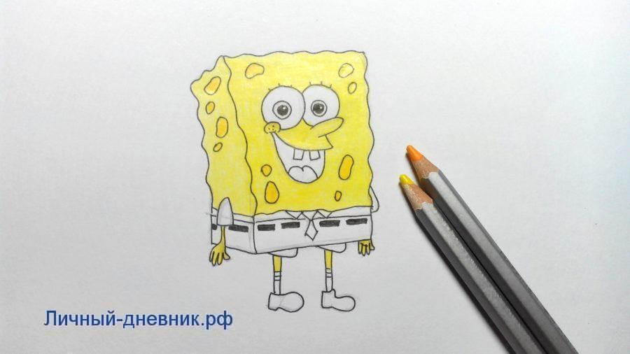Картинки для срисовки СпанчБоб