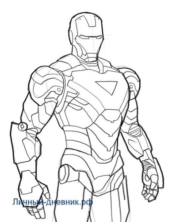 Картинки для срисовки Железный человек