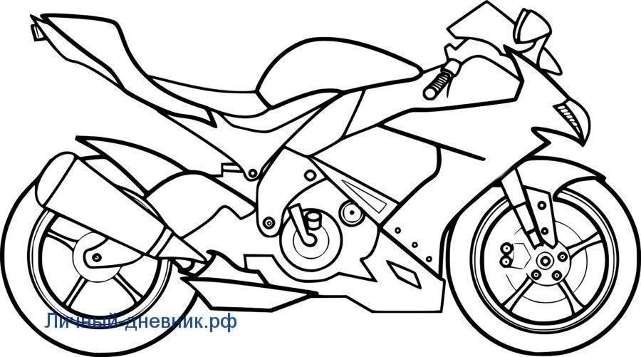 Картинки для срисовки Мотоцикл