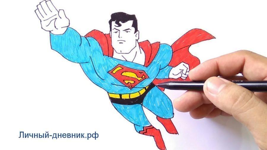 Картинки для срисовки Супермен