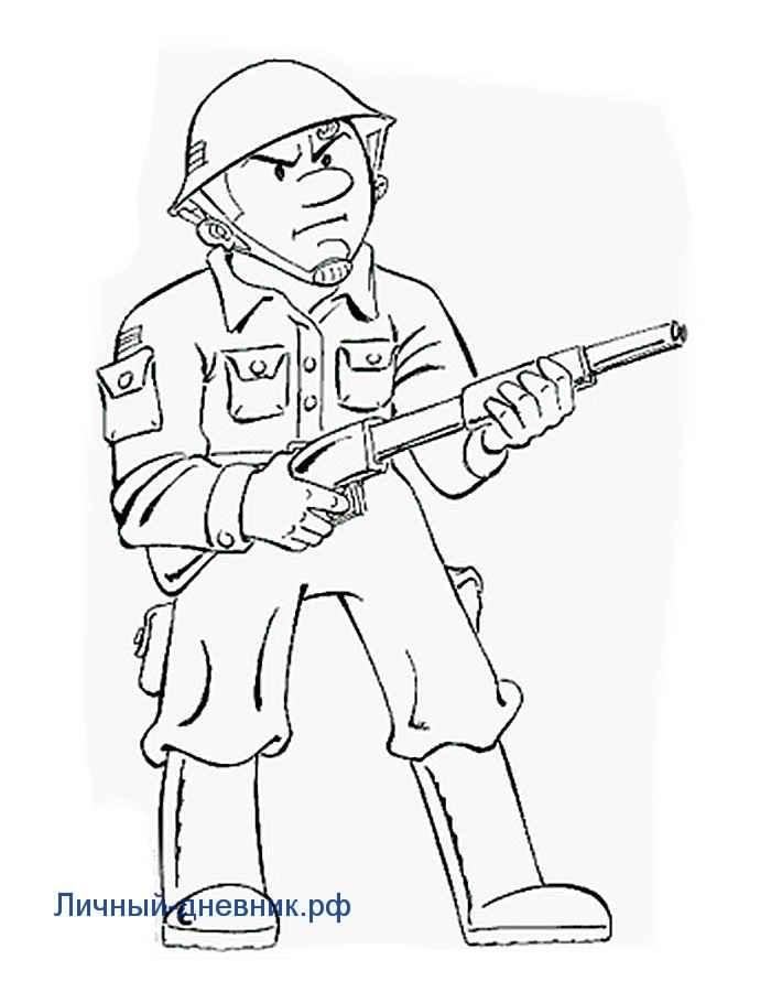 Солдат для срисовки