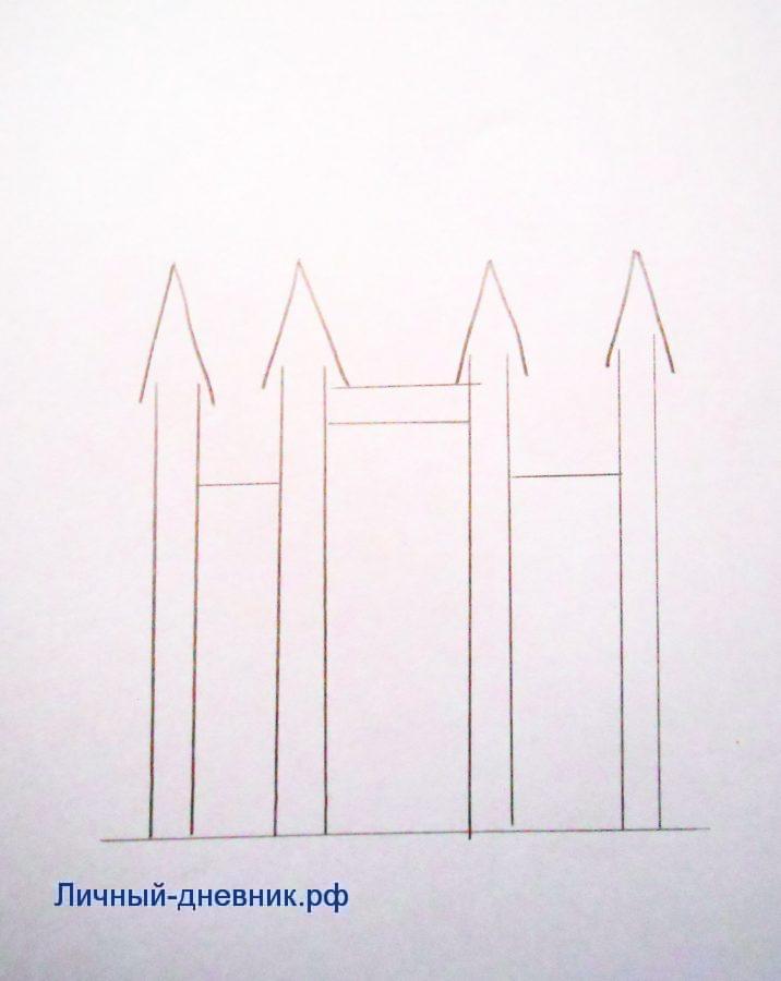 Как нарисовать замок карандашом легко