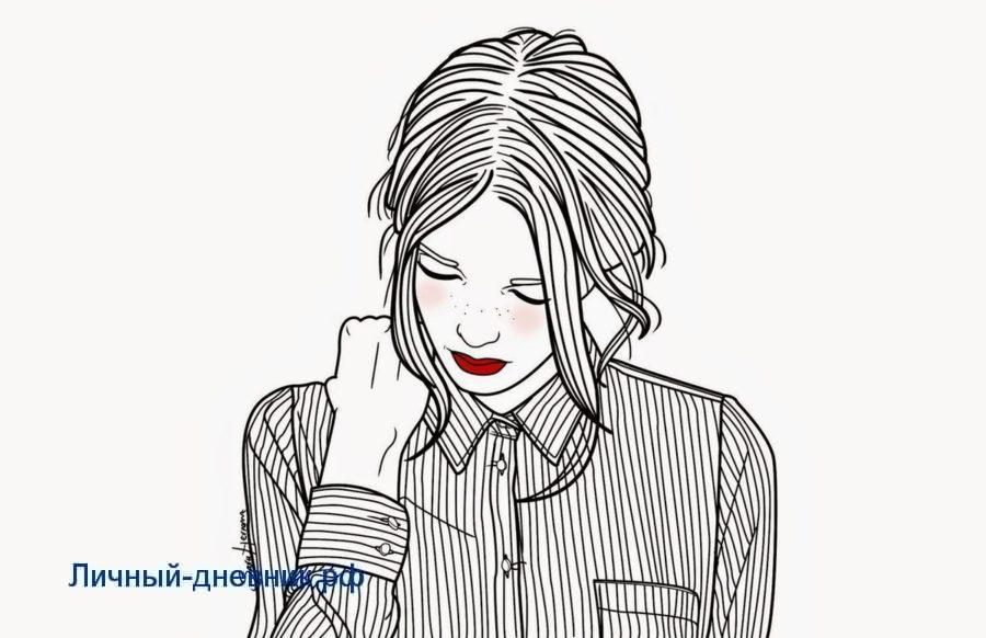 Рисунки для срисовки девушки тумблер