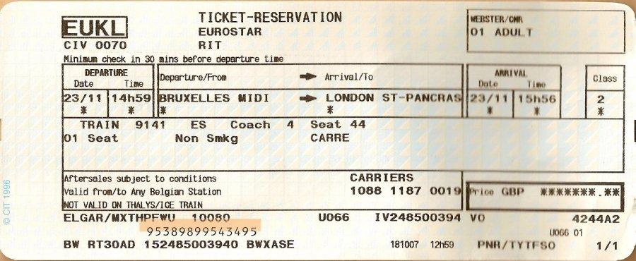 Билеты ЖД для оформления ЛД