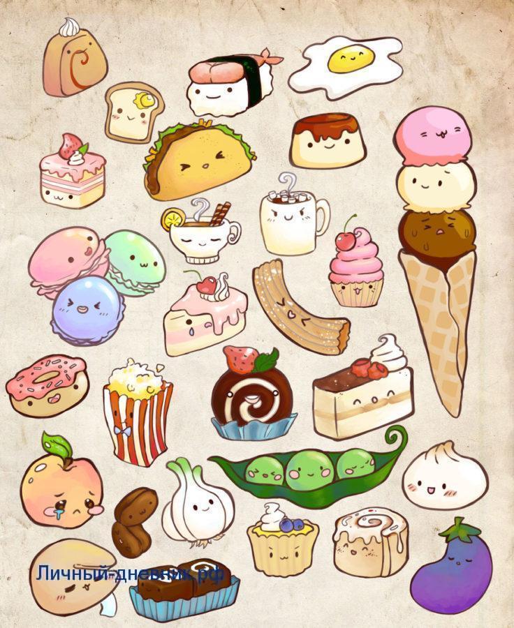 Прикольные рисунки с едой