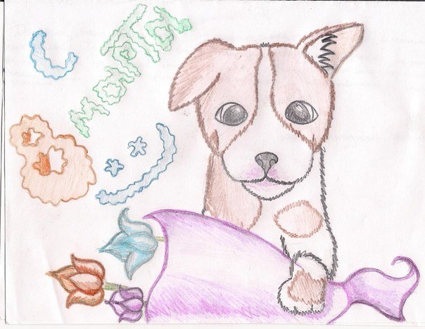 Слова, рисунок маме на 8 марта от дочки карандашом