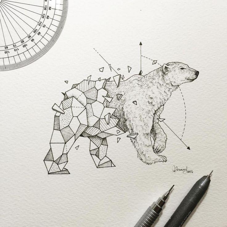 Рисунки животных в стиле тумблер