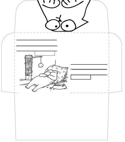 Открытках, конверт черно белый шаблоны распечатать