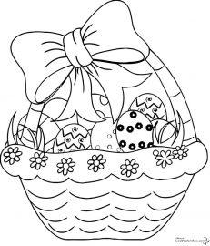 картинки для списовки на пасху черно белые распечатки - раскраски