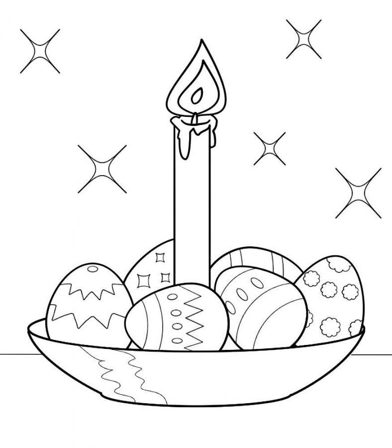 Пасхальная открытка рисунок для детей